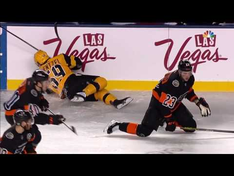 Manning lays out Guentzel with crushing hit to head