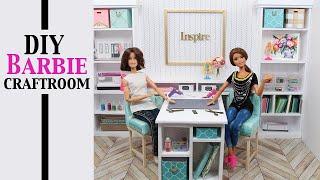 DIY - How t๐ make a Barbie Craft Room - Barbie Room Build - 1:6 Scale