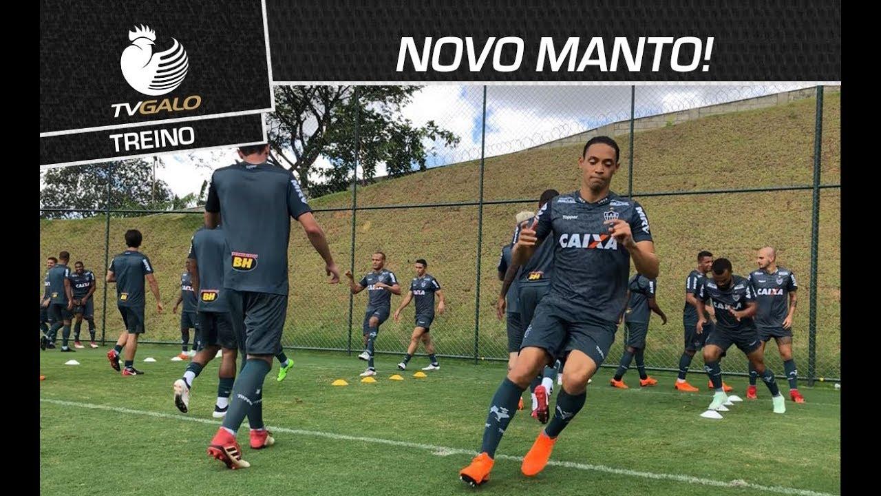 NOVO MANTO! Confira imagens do primeiro treino com os uniformes 2018 ... 8dd610a278c69