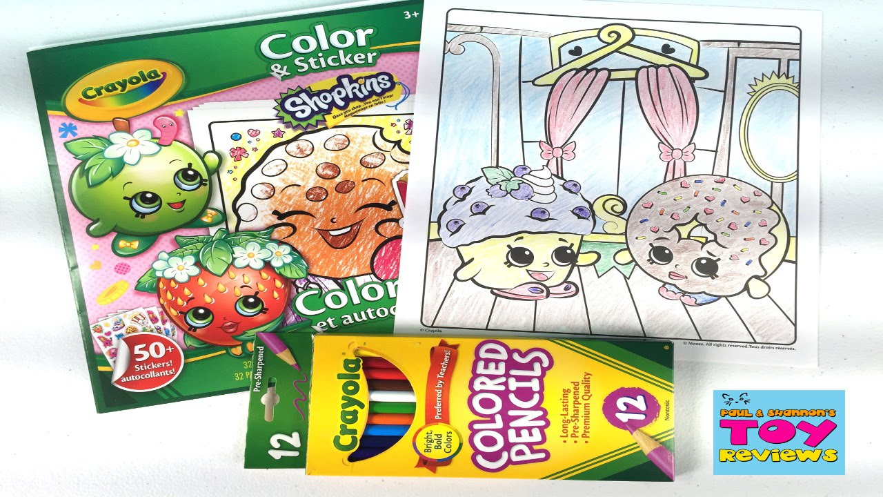 shopkins crayola coloring page dlish donut mini muffin diy speed color pstoyreviews youtube