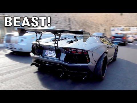 Liberty Walk Lamborghini Aventador BEAST in Monaco!