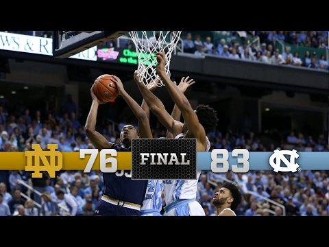 Top Moments - Notre Dame Men's Basketball vs. North Carolina