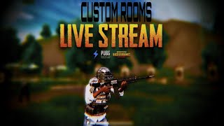 PUBG MOBILE LIVE | UNLIMITED CUSTOM ROOMS | RUSH GAMEPLAY