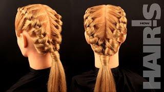 Оригинальная прическа «Веревочка» с необычным плетением - видеоурок (мастер-класс) Hair's How