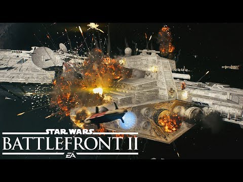 Star Wars Battlefront 2 Starfighter Assault Multiplayer Gameplay from Gamescom 2017