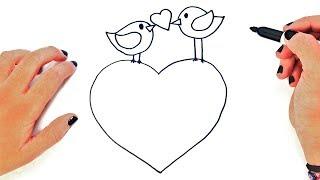 Dibujo de amor facil