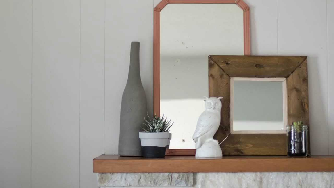 DIY Rustic Framed Pallet Wood Mirror with Colleen - YouTube
