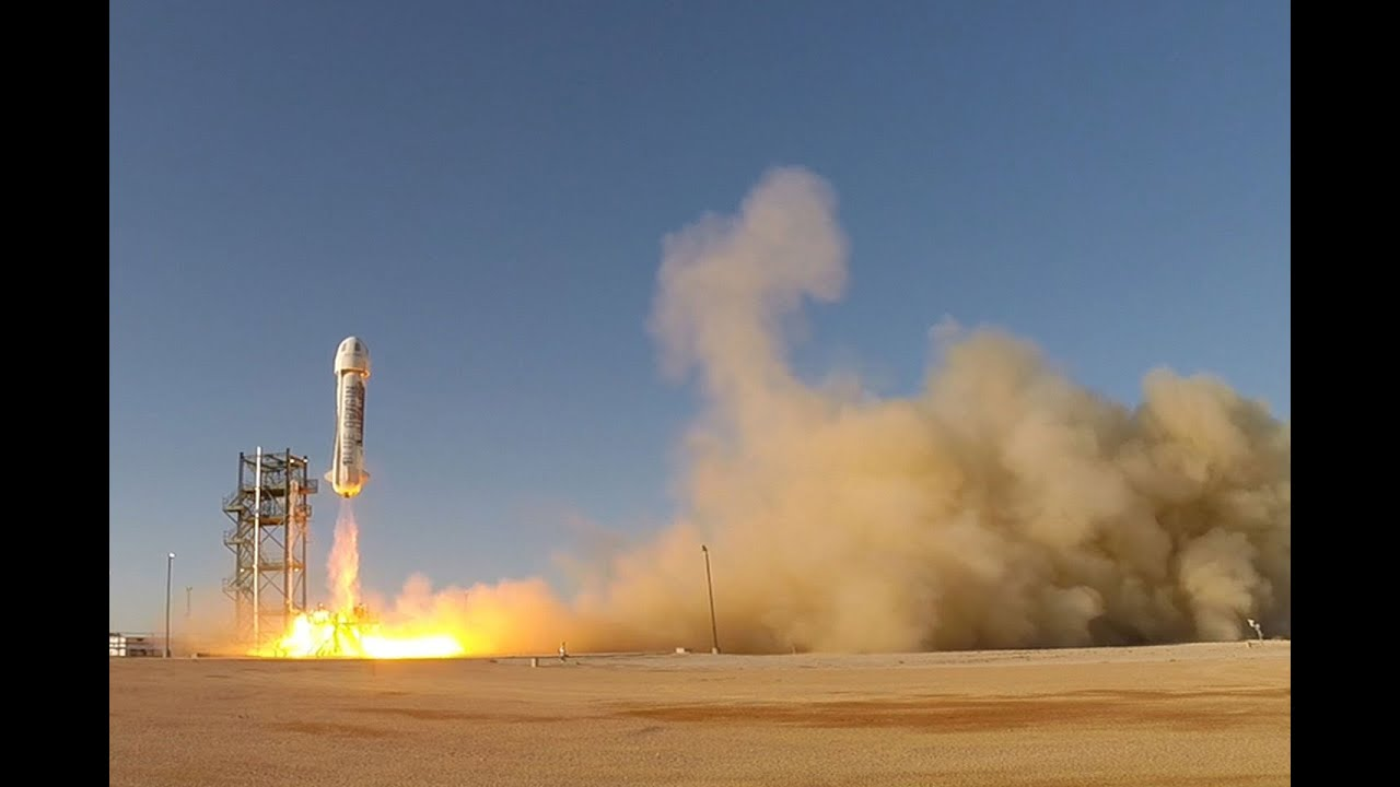 Blue Origin Launches 1st New Shepard Spaceship Test Flight in Over a Year