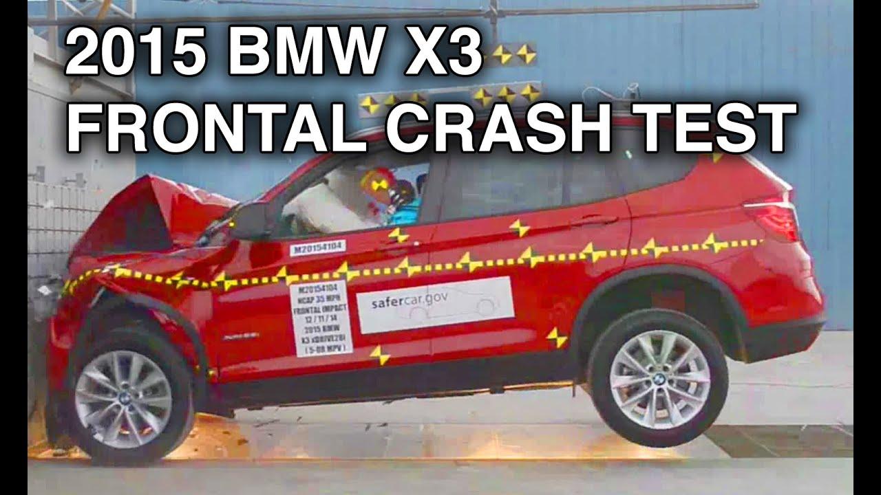 2015 BMW X3  Frontal Crash Test  YouTube