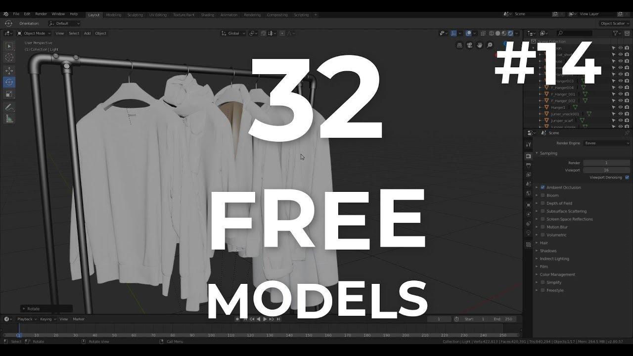 32 FREE 3D MODELS - FREE FRIDAY