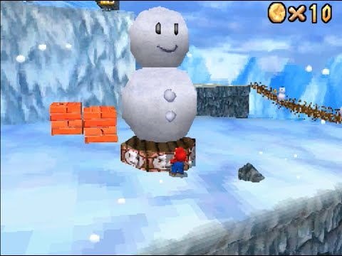 Super Mario 64 DS: Cool Cool Mountain (Snowman's Lost His Head) [HD]