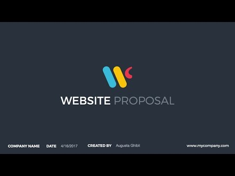 Website Proposal PowerPoint Presentation Template - YouTube