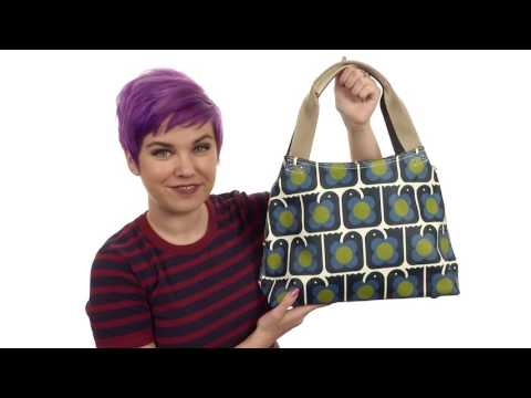 Orla Kiely Love Birds Print Classic Zip Shoulder Bag SKU:8888478