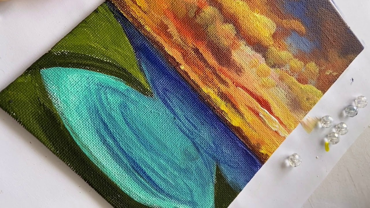 SUNRAYS Easy acrylic painting tutorial for absolute ...