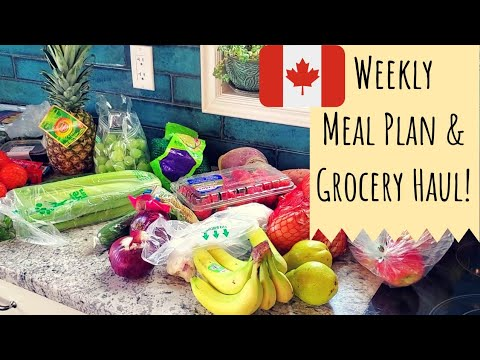 WEEKLY GROCERY HAUL IN CANADA 🇨🇦 | WHAT WE SPEND + MEAL PLAN