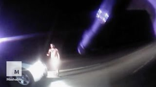 Naked man steals cop car, police catch it all on video | Mashable