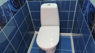 Ремонт туалету панелями пвх Юнік (Краплі роси)