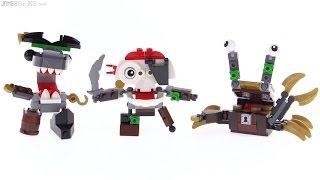 LEGO Mixels Series 8 Pyrratz review: Sharx, Skulzy, & Lewt!