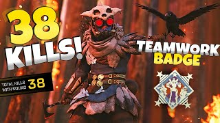 38 KILL GAME INSANE MATCH AS BLOODHOUND!  Apex Legends