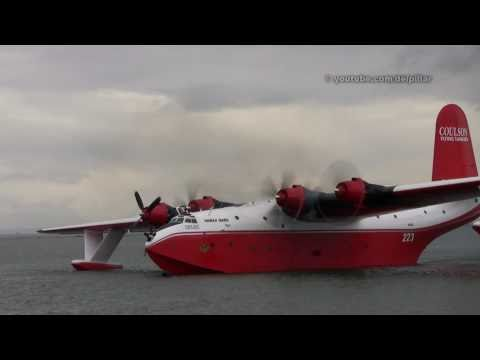 Martin Mars Water Bomber Demo - Richmond, B.C.