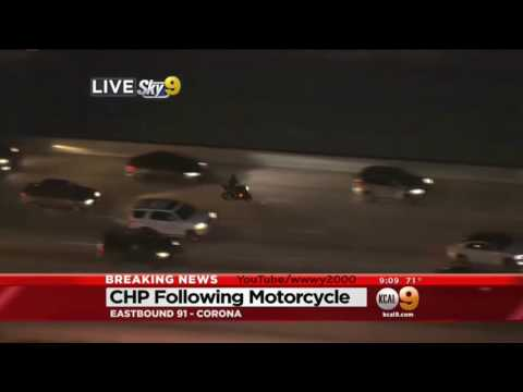Los Angeles Police Chase Suspect Arrested After Motorcycle Runs Out Of Gas