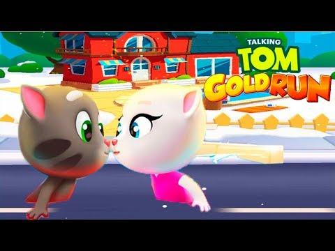 ГОВОРЯЩИЙ ТОМ БЕГ ЗА ЗОЛОТОМ ДРУЗЬЯ ТОМ и ПРИНЦЕССА Мультик игра видео для детей Игровой мультфильм