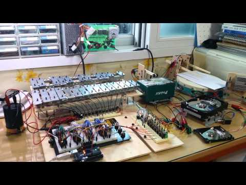 Rolling In the Deep by Adele - Arduino Powered MIDI Robot Orchestra (Update ver)