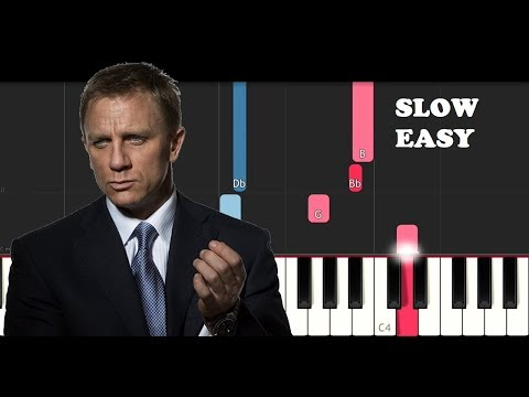 James Bond Theme (SLOW EASY PIANO TUTORIAL)