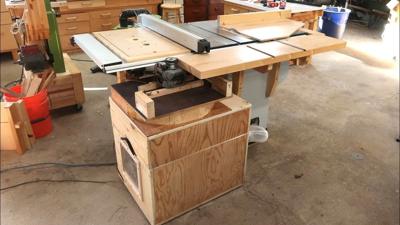 Dedicated Table Saw Dust Collector Youtube