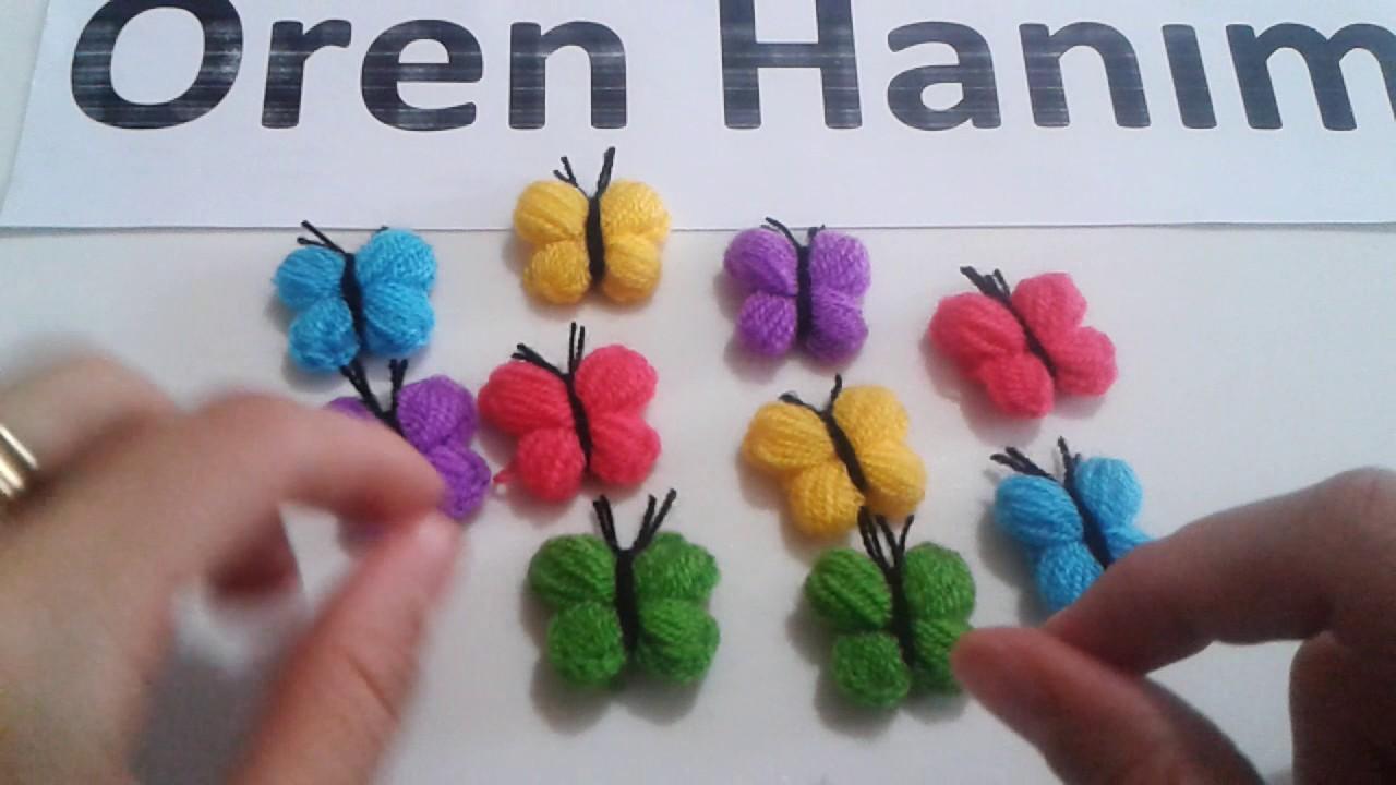 Renkli Kelebek Modeli Lif Yapılışı Videolu Anlatımlı