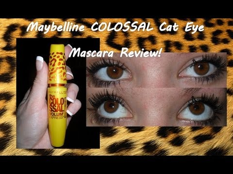 62472a77851 Maybelline Volume Express Colossal 'Cat Eye' Mascara Review. - YouTube