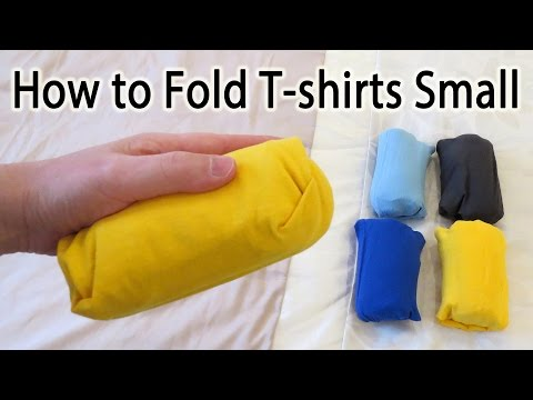 How to Fold a T-shirt Small to Save Space - Lifehack