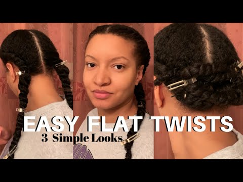 flat-twists-protective-style-|-wash-day-hair-|-how-to-natural-hairstyles