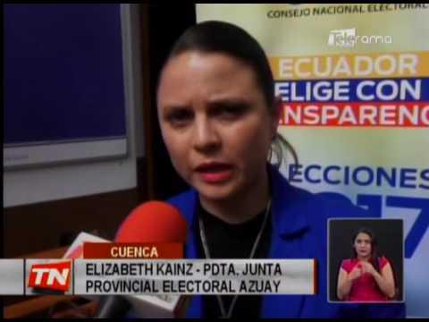 CNE Azuay listo para segunda vuelta electoral
