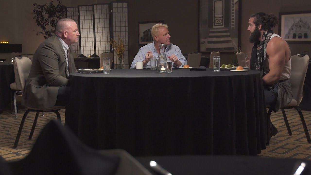jeff jarrett challenges elias 39 guitar smashing ability on table for 3 wwe network exclusive. Black Bedroom Furniture Sets. Home Design Ideas