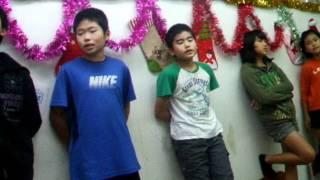 2011年12月8日の授業で練習した歴史ソング「聖武天皇と大仏」の歌練習の...
