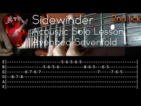 Sidewinder Acoustic Solo Lesson - Avenged Sevenfold (with tabs)