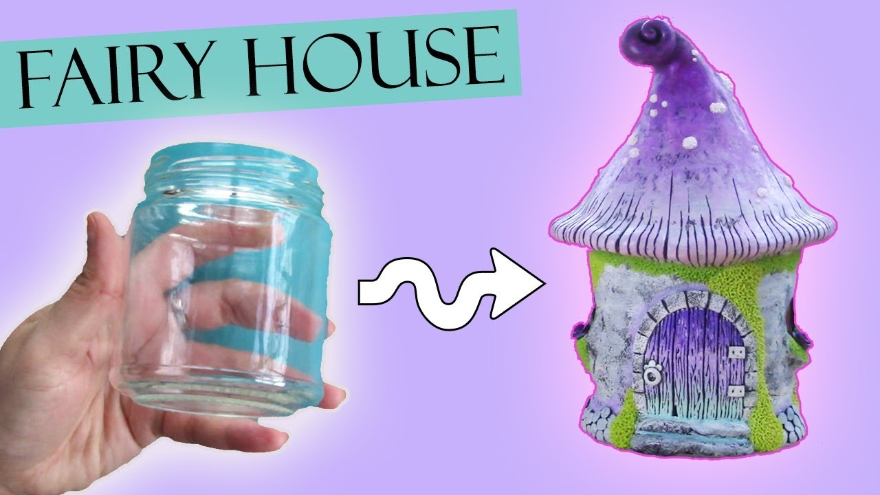 Polymer clay fairy house jar lantern tutorial maive How to make a fairy door out of clay