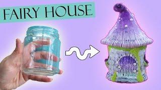 Polymer Clay Fairy House Jar Lantern Tutorial || Maive Ferrando