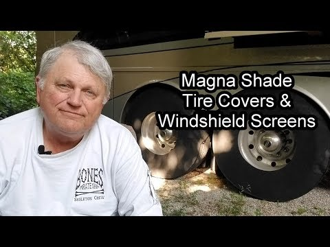 Magne Shade Tire Covers And Windshield Screens Youtube