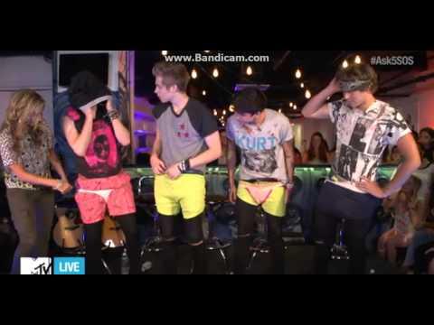 5 Seconds Of Summer MTV Live Stream Underwear Challenge
