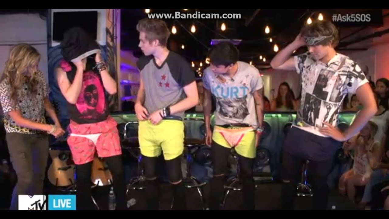 5 Seconds Of Summer Mtv Live Stream Underwear Challenge