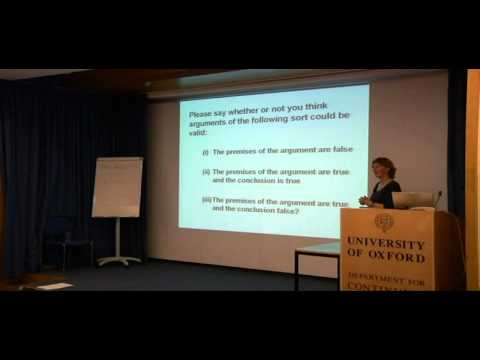 Evaluating Arguments Part One - Marianne Talbot