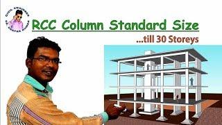 RCC Column Standard Size
