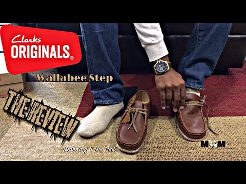 clarks-wallabee-step-on-feet- -wallabee-step-unboxing- -wallabee-clarks-step-review