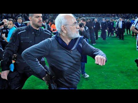 Grecia: el presidente del PAOK amenaza al árbitro con un arma