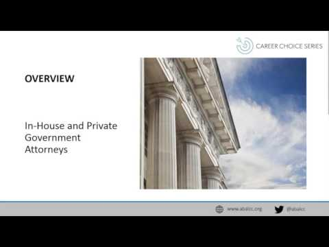 Career Choice Series: In-House and Private Government Attorneys