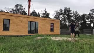 Відвантаження модульного будинку на земельній ділянці|Отгрузка модульного дома |ТМ Українська мрія