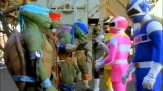 Les Power Ranger In Space rencontre Les Tortue Ninja