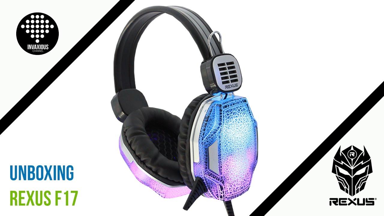 Unboxing Rexus F17 Headset Gaming Spectrum Youtube Vonix F55